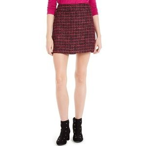 NWT Maison Jules Tweed Black Pink Mini Skirt 2